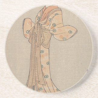 Portrait of the Actor Nakamura Yasio as an Oiran Coaster