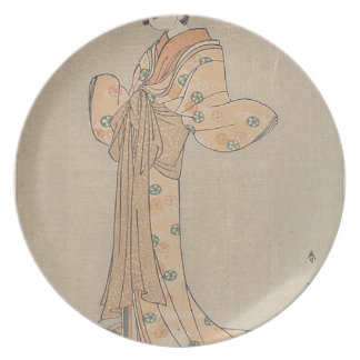 Portrait of the Actor Nakamura Yasio as an Oiran Plate