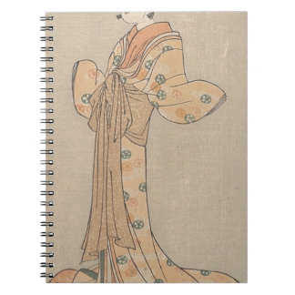 Portrait of the Actor Nakamura Yasio as an Oiran Spiral Notebook