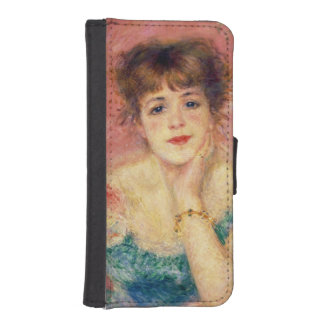 Portrait of the actress Jeanne Samary, 1877 Phone Wallet Cases