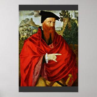 Portrait Of The Anabaptist David Joris By Scorel J Poster