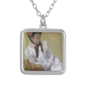 Portrait of the Artist - Mary Cassatt Silver Plated Necklace