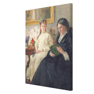 Portrait of the Artist's mother and sister Canvas Print