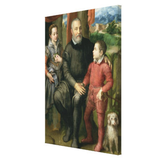 Portrait of the artist's family, Minerva Stretched Canvas Print