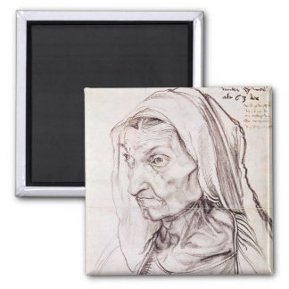 Portrait of the artist's mother, 1514 square magnet