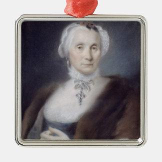 Portrait of the Artist's Mother, Cecilia Guardi, 1 Silver-Colored Square Decoration