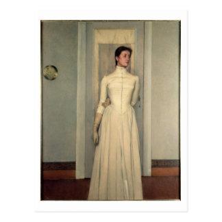 Portrait of the artist's sister, Marguerite Khnopf Postcard