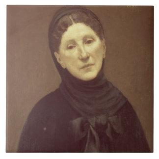 Portrait of the artist's wife, Madame de Chavannes Large Square Tile