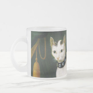 Portrait of the Cat Armellino Frosted Glass Coffee Mug
