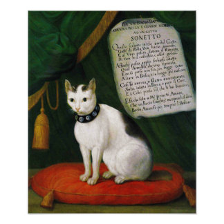 Portrait of the Cat Armellino Poster