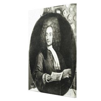 Portrait of the Composer Tomaso Giovanni Canvas Print