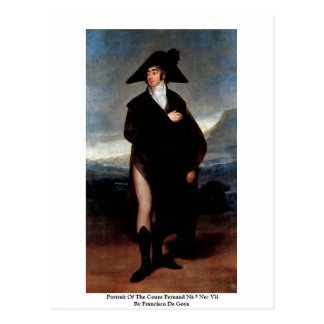 Portrait Of The Count Fernand Nã º Nez Vii Postcard