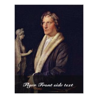 Portrait Of The Danish Sculptor Bertel Thorvaldsen Flyer Design