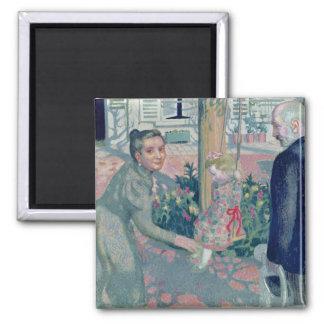 Portrait of the Denis Grandparents, 1899 Square Magnet