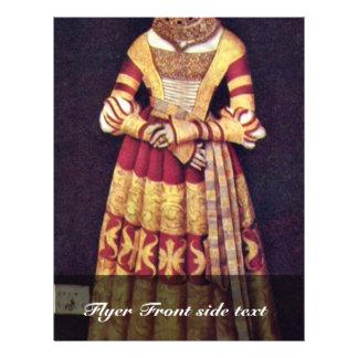 Portrait Of The Duchess Katharina Von Mecklenburg Flyer