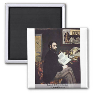 Portrait Of The Emile Zola By Manet Edouard Magnet
