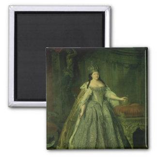 Portrait of the Empress Anna Ivanovna  1730 Magnet