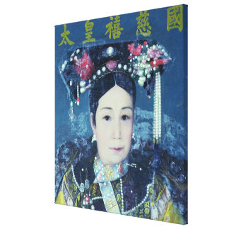 Portrait of the Empress Dowager Cixi Canvas Print