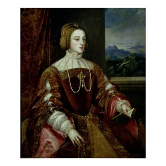 Portrait of the Empress Isabella of Portugal Poster