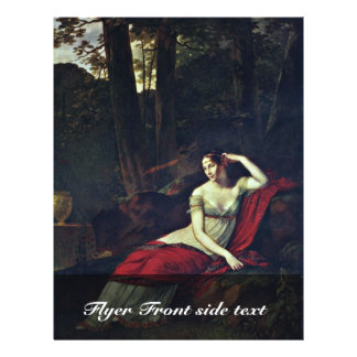 Portrait Of The Empress Josephine By Prud'Hon Pier 21.5 Cm X 28 Cm Flyer