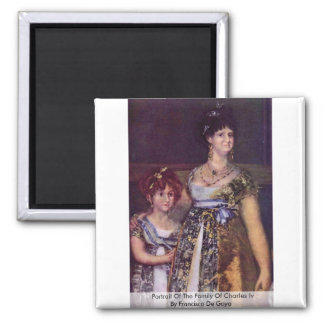 Portrait Of The Family Of Charles Iv Refrigerator Magnet