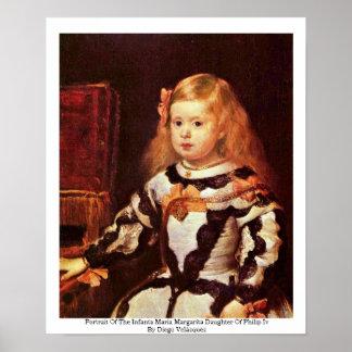 Portrait Of The Infanta Maria Margarita Poster