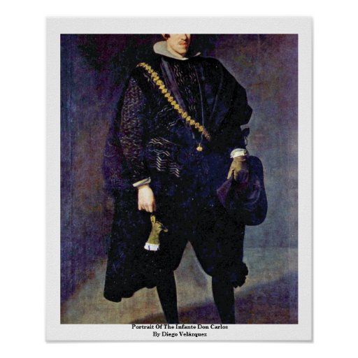 Portrait Of The Infante Don Carlos Poster