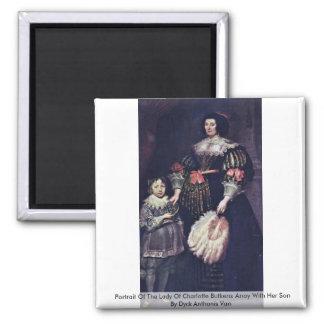 Portrait Of The Lady Of Charlotte Butkens Anoy Fridge Magnets