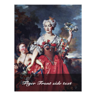 Portrait Of The Marquise De Gueydan As Flora Personalized Flyer