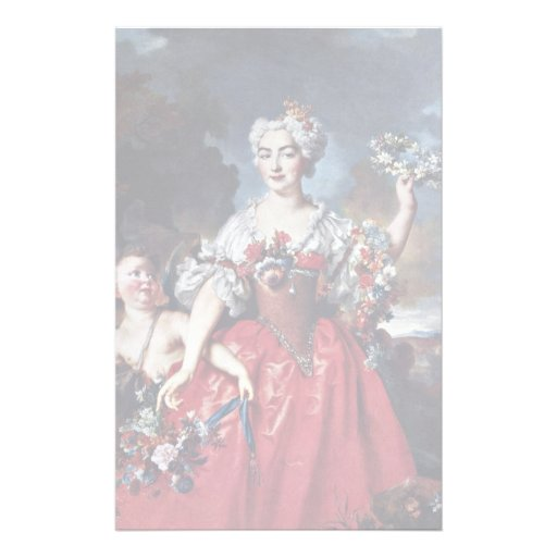 Portrait Of The Marquise De Gueydan As Flora Custom Stationery