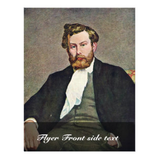 Portrait Of The Painter Alfred Sisley By Pierre-Au 21.5 Cm X 28 Cm Flyer