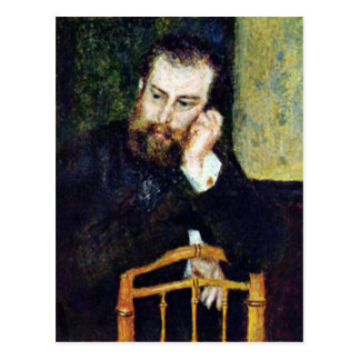 Portrait of the painter Alfred Sisley by Renoir Postcard