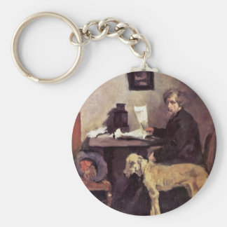 Portrait Of The Painter Sattler With His Great Dan Key Ring