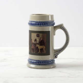 Portrait Of The Painter Sattler With His Great Dan Mug
