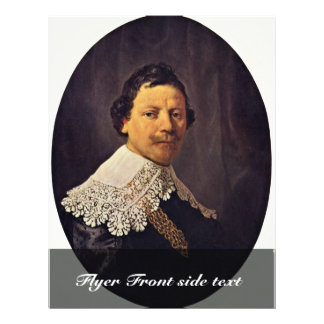 Portrait Of The Philips Lukasz By Rembrandt Custom Flyer