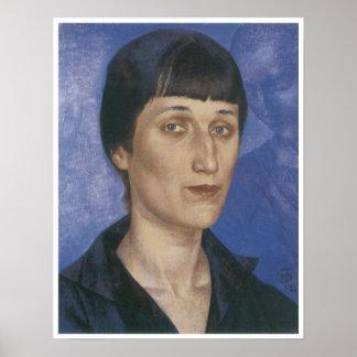 Portrait of the Poet Anna Akhmatova Posters