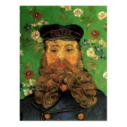 Portrait of the Postman Joseph Roulin by Van Gogh Postcard