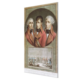 Portrait of the Three Consuls of the Republic Gallery Wrapped Canvas