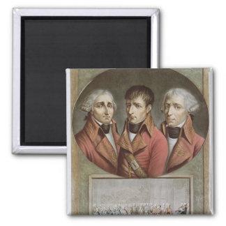 Portrait of the Three Consuls of the Republic Square Magnet