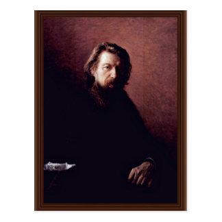 Portrait Of The Writer Alexei Antipowitsch Potechi Postcard
