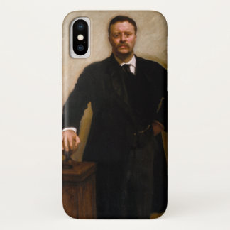 Portrait of Theodore Roosevelt by Sargent iPhone X Case