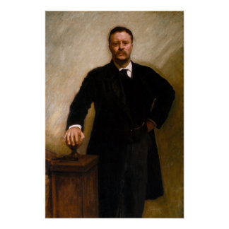 Portrait of Theodore Roosevelt by Sargent Poster