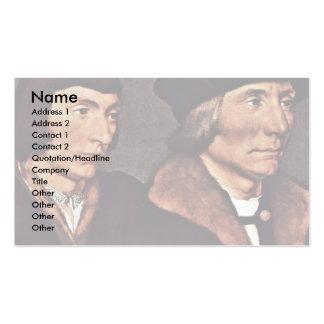 Portrait Of Thomas Godsalve With His Son John Business Card Templates