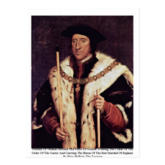 Portrait Of Thomas Howard 3Rd Duke Of Norfolk Postcard