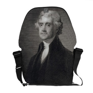 Portrait of Thomas Jefferson, engraved by Henry Br Courier Bag