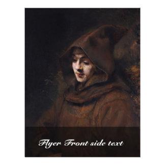 Portrait Of Titus In Monk'S Clothes, By Rembrandt 21.5 Cm X 28 Cm Flyer