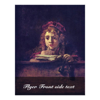 Portrait Of Titus Writing At A Table., Flyer Design