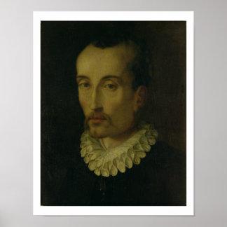 Portrait of Torquato Tasso, 1585-90 (oil on panel) Poster