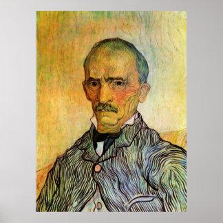 Portrait of Trabuc, Attendant - Vincent van Gogh Poster