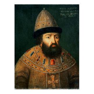 Portrait of Tsar Alexei I Mihailovitch Postcard